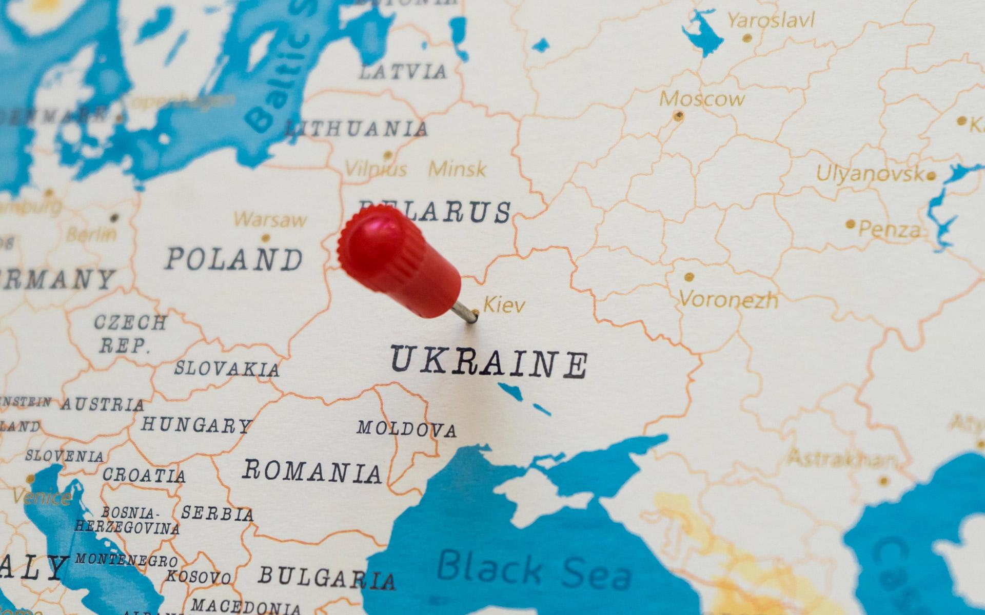 Sieć połączeń na Ukrainę