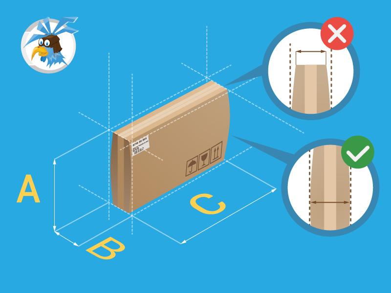 Przesyłka niestandardowa - wybrzuszony karton - jak zmierzyć przesyłkę kurierską