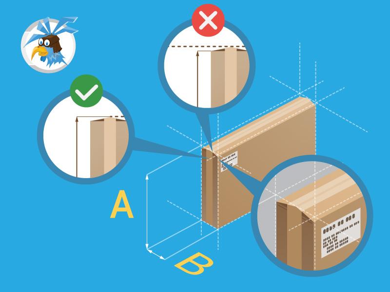 Przesyłka niestandardowa - wybrzuszenie w miejscu zamknięcia - jak zmierzyć przesyłkę kurierską