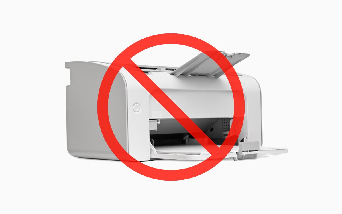 Brak drukarki
